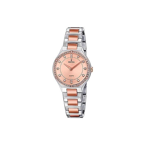 Festina Reloj Análogo clásico para Mujer de Cuarzo con Correa en Acero Inoxidable F20226/4