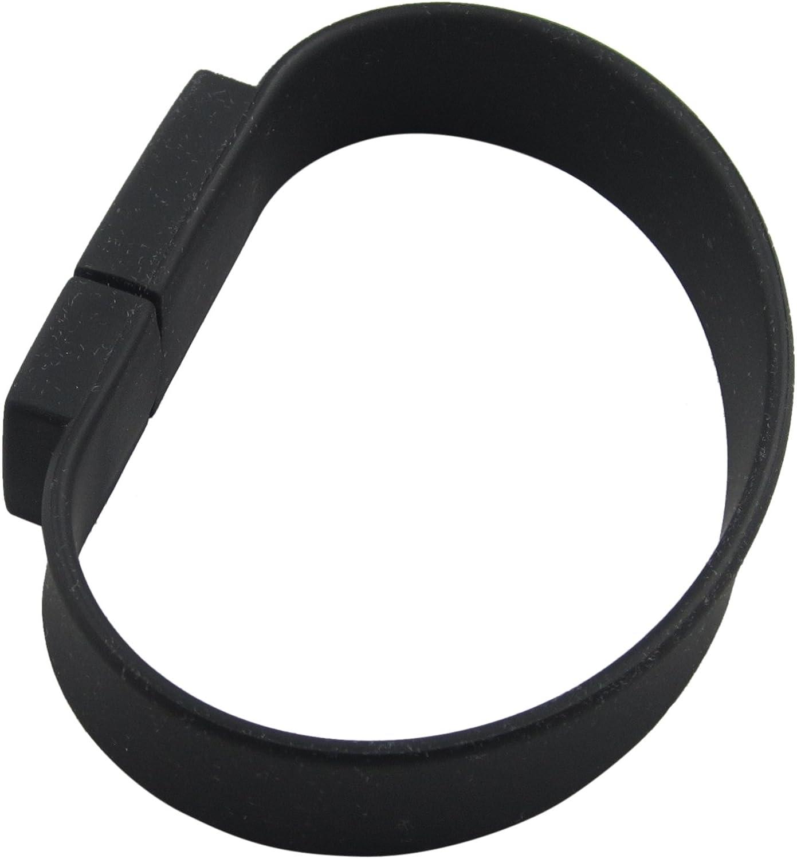 Lalakie Wristband Bracelet USB 3.0 Memory Stick Pendrive Flash Drive 8GB High Speed Black