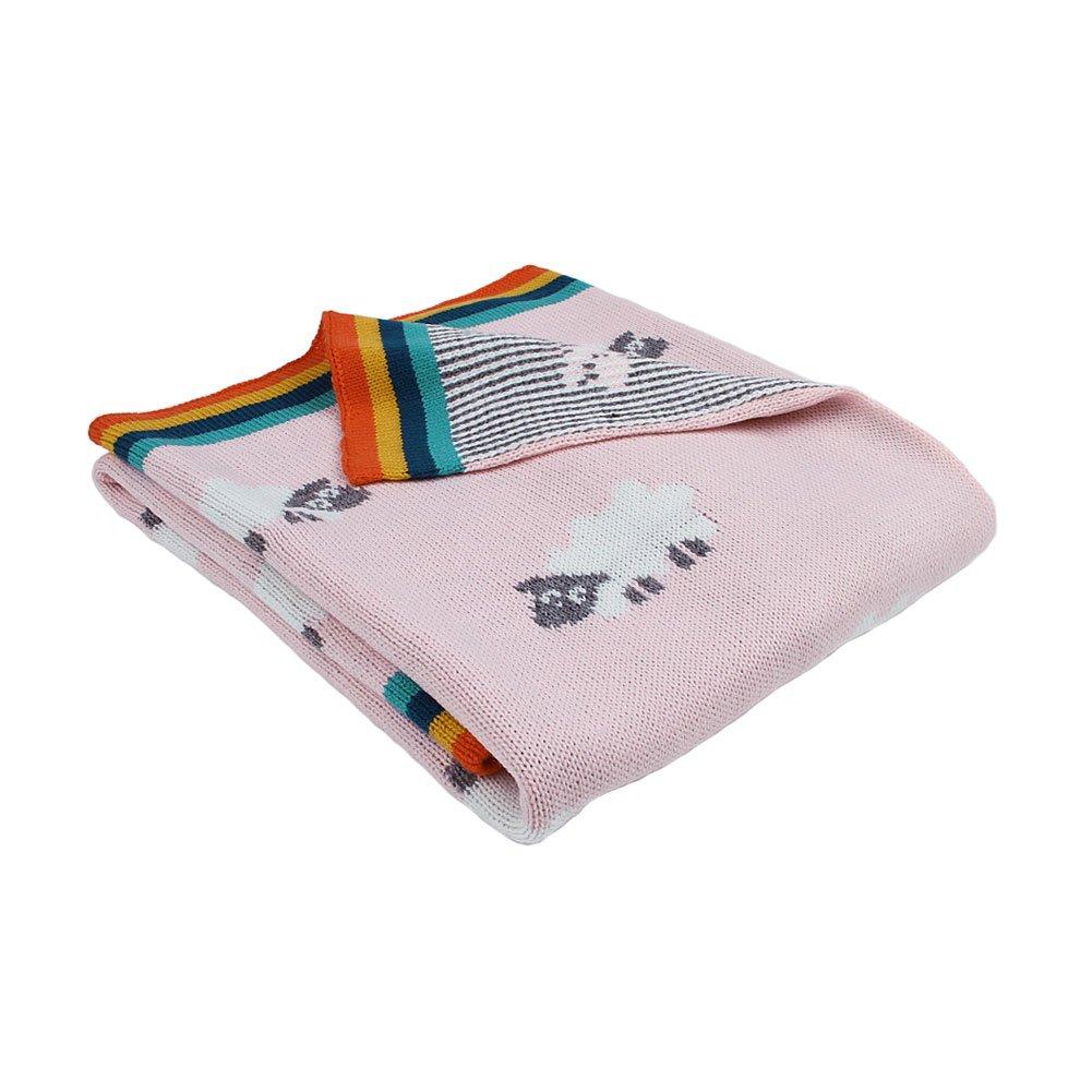 MiMiMiXiong mantas de punto para bebé, doble capa, suave celular ...
