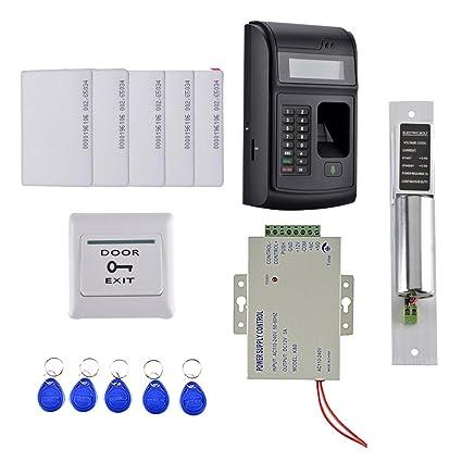IPOTCH 1 pieza de Cerradura de Puerta de 5 Teclas RFID de 1000 usuarios huella Digital