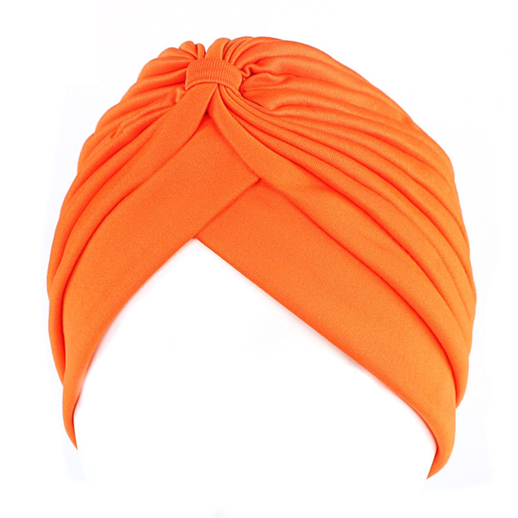 Bobury Mujer Chemo Plisado Pre Cabeza Atada Cubierta hasta Bonnet Sun Turbante Gorra