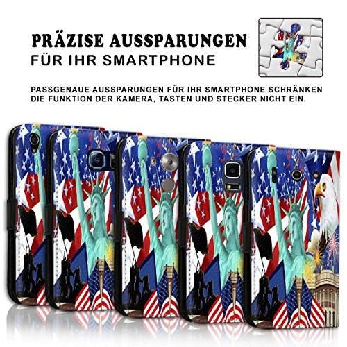 Wallet Book Style Flip Handy Tasche Case Schutz Hülle Schale Motiv Etui für Apple iPhone 5 / 5S - Design Flip MVD411