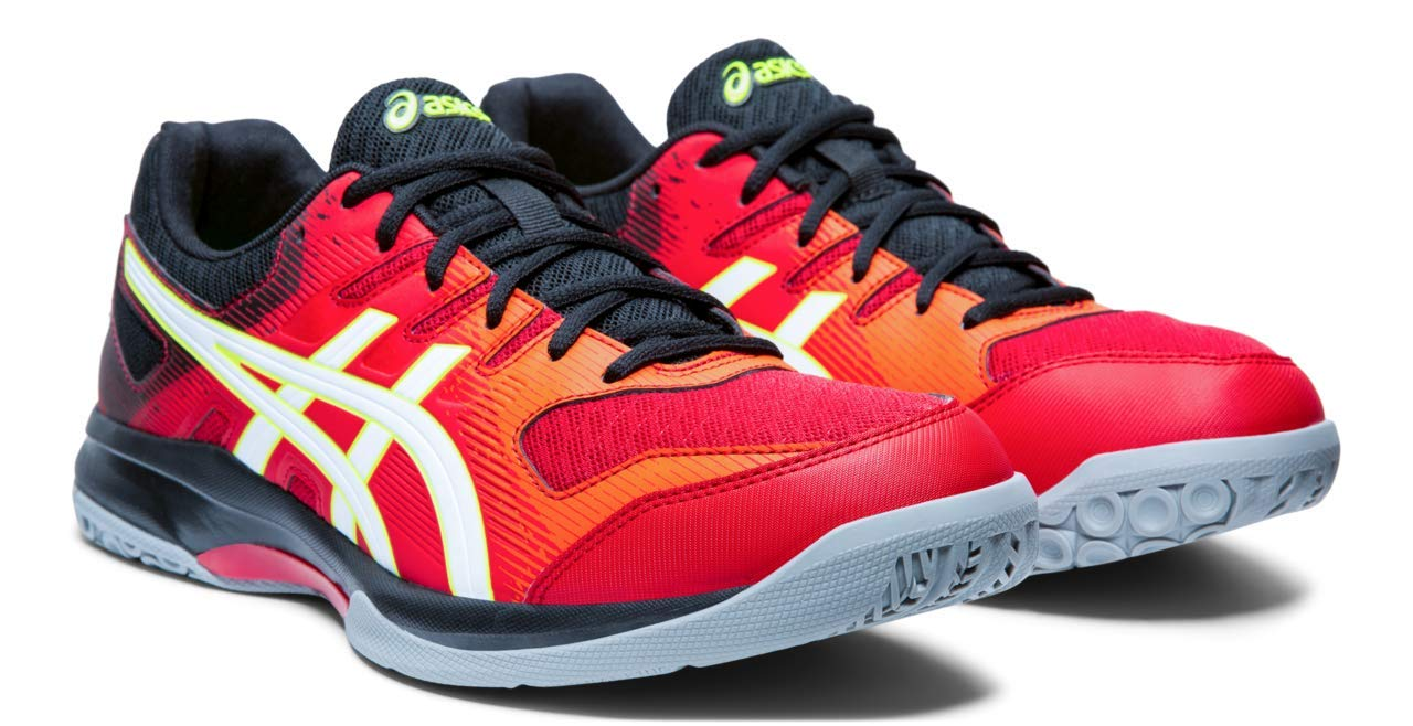 ASICS Gel-Rocket 9 Men's Volleyball Shoes, Speed Red/White, 6 M US