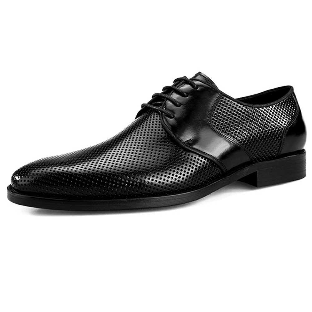 DHFUD Spring Hohl Atmungsaktivem Leder Herren-Geschäft-Casual-Schuhe Beiläufige Schuhe Der Männer Sandaleen
