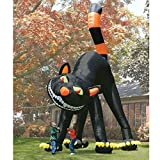 20ft Animated Giant Inflatable Black Cat Halloween Decoration