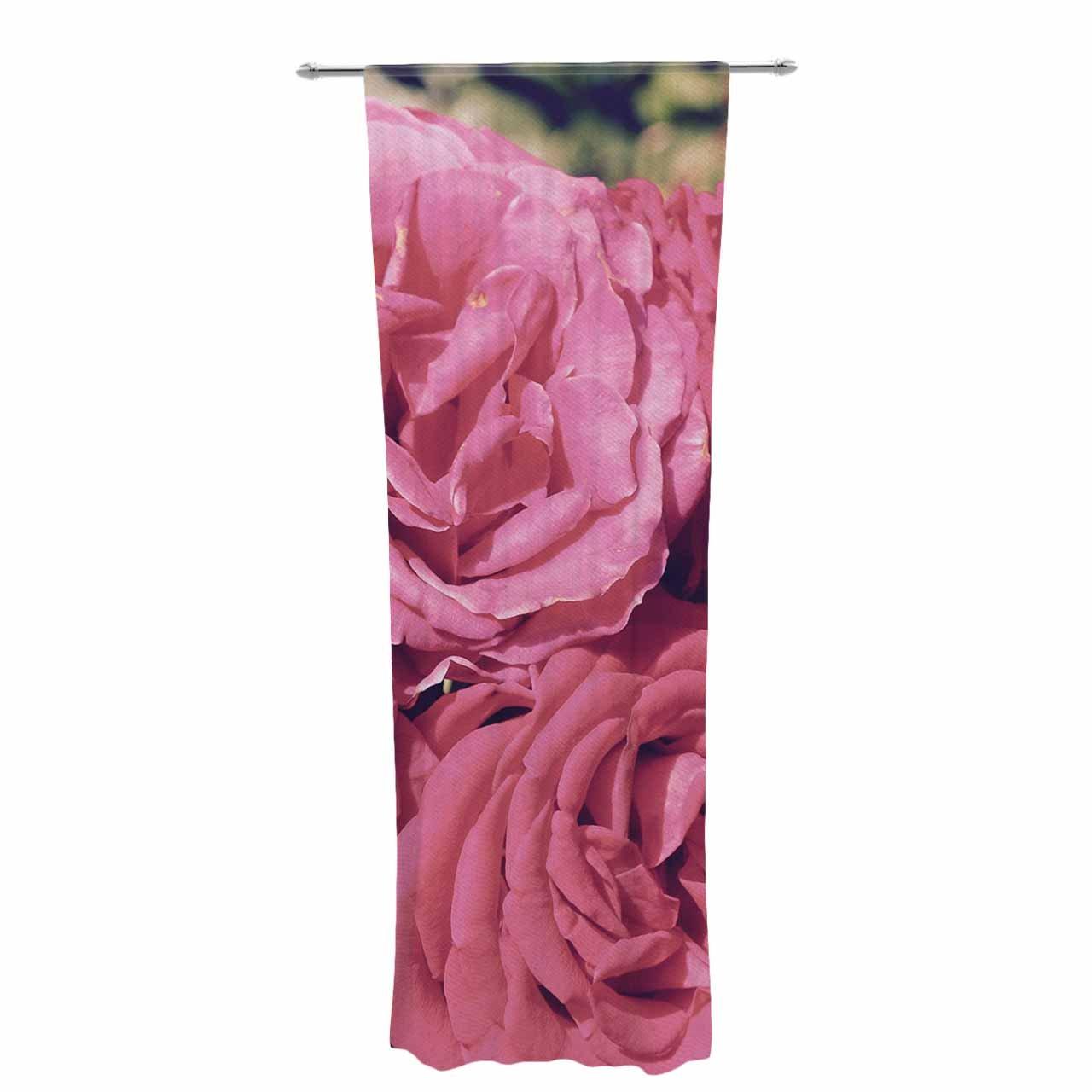 Kess InHouse Susan Sanders Blush Pink Blooming Roses Floral Photography Decorative Set, 30' x 84' Sheer Curtains