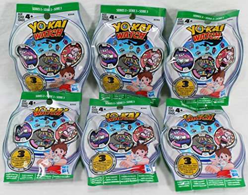Rlm Series (6 Blind Bags: Yo-Kai Watch Series 3 Medals - 18 Random Medals)