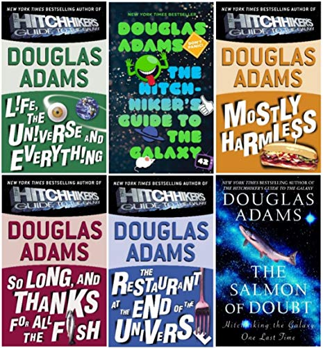 The Hitchhiker's Guide to the Galaxy (6 Book Set in the Series) (Douglas Adams Hitchhikers Guide To The Galaxy Series)