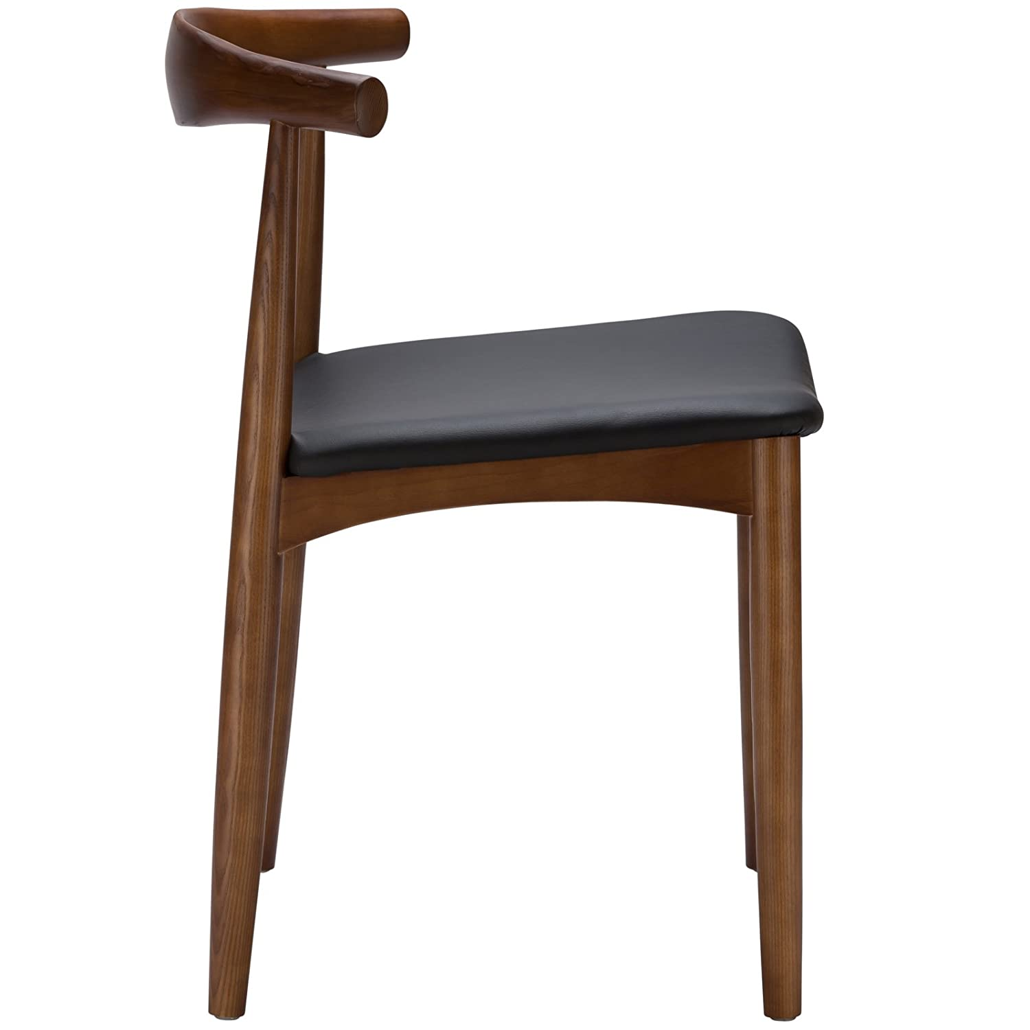 Amazon Poly and Bark Wegner Style Elbow Chair Walnut
