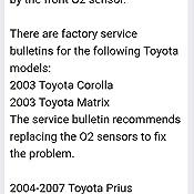 AiceOlie OEM # 234-4800 Upstream Oxygen Sensor, Oxygen Sensor For 2003-2004  Toyota Corolla Matrix 1 8L Replaces # 234-4800