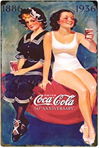 Coke Cola Delicious with Food Sign of Good Taste Advertising Tin Sign