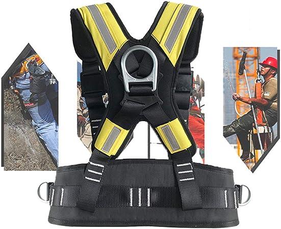 APOE Arnés de Escalada, Arnés Profesional para Escalada en Roca Cinturón de Seguridad de Medio Cuerpo para Scaffolders, Waist Length 60cm-130cm, ...