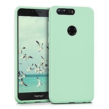 kwmobile Funda para Huawei Honor 8 / Honor 8 Premium - Carcasa para móvil en [TPU Silicona] - Protector [Trasero] en [Menta Mate]