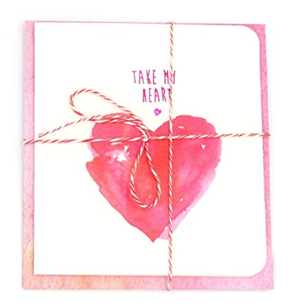 Amazon take my heart romantic love cards small and cute love take my heart romantic love cards small and cute love greeting cards with envelopes m4hsunfo
