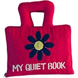 Naveeti Quiet Book with Pink Cover - Early Learning Educational Activity Cloth Book for Babies and Kids. A Fun Filled Busy Book That Children Will Love.