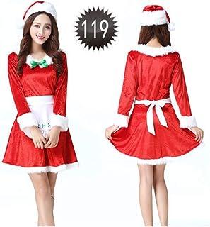 SDLRYF Père Noël Costume Costume De Noël Père Noël Costume Costume des Femmes Montrent Le Père Noël(Adapté pour 45-55Kg)