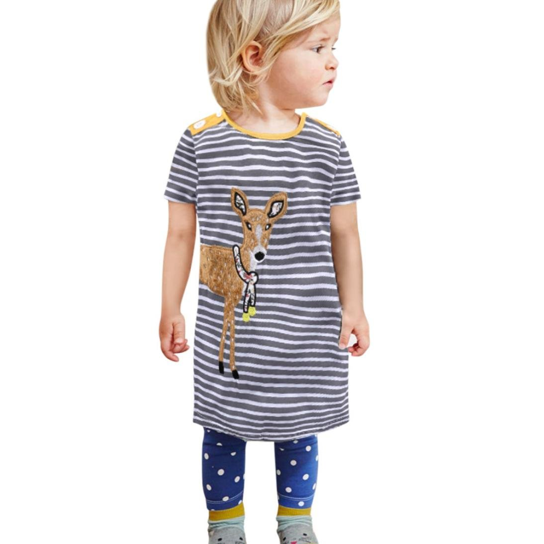 Amazon com: Euone® Toddler Girls Summer Striped Dress Child Cartoon