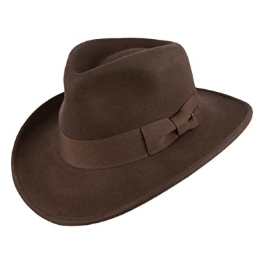 544812de1d186 Village Hats Sombrero Fedora promocional Indiana Jones - Marrón  Amazon.es   Ropa y accesorios