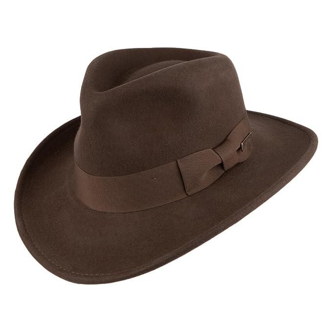 Village Hats Sombrero Fedora promocional Indiana Jones - Marrón  Amazon.es   Ropa y accesorios fa8f86bf48f