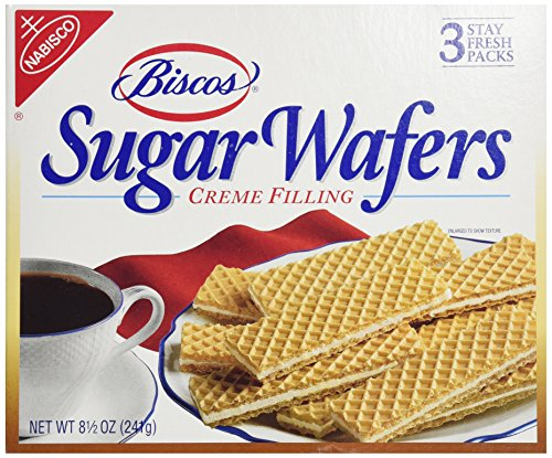 Biscos Sugar Wafers with Creme Filling, 8.5 Ounce - Cookies Bakery Sugar