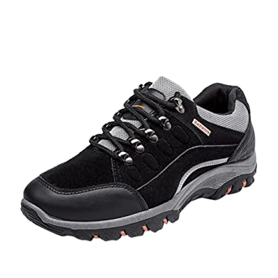 Men's Outdoor Casual Waterproof Anti-Skidding Breathable Elasticity Mountaineering Hiking Boots