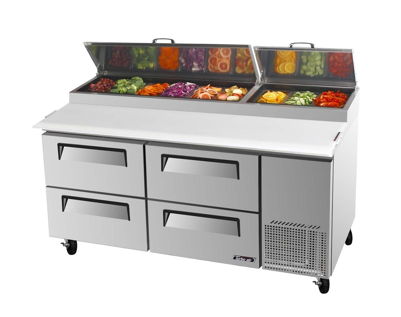 Turbo Air TPR-67SD-D4 Solid Drawer Pizza Prep Table