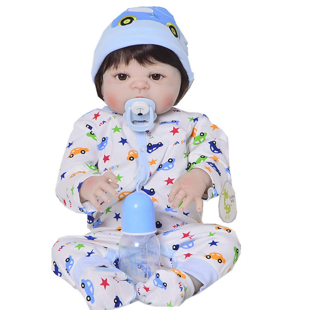 MCCW 23 Pollici Reborn Bambola Pieno di plastica rinato Bambino Simulazione realistica Bambino precoce Istruzione Puzzle Doll Bambini Set Regalo