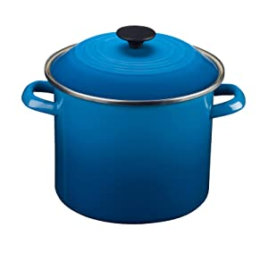 Le Creuset Enamel-on-Steel 8-Quart Stock Pot with Lid, Marseille