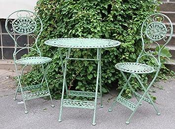 Amazon De Casa Padrino Jugendstil Gartenmobel Set Antik Stil Grun