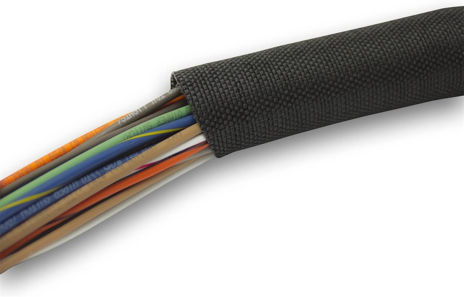 Painless 70901 1//4 Split Braided Sleeving