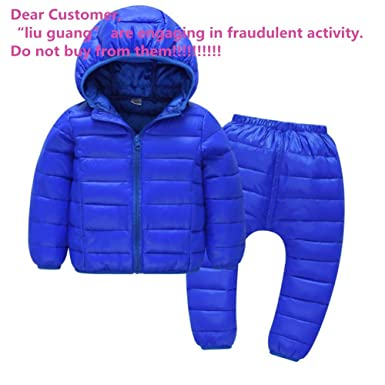 3add70646 Amazon.com  Child Jackets Coats with Pants Girls Boys Winter ...