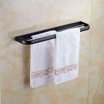 Auralum® Toalla de Baño Toalla Anillo de Bronce Negro Doble Pared de Baño Estantes Toalla Barra: Amazon.es: Bricolaje y herramientas