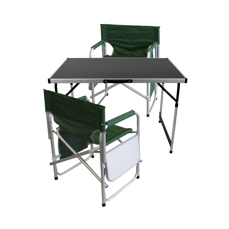 3 piezas. Camping Muebles Jardín Mesa de camping plegable ...