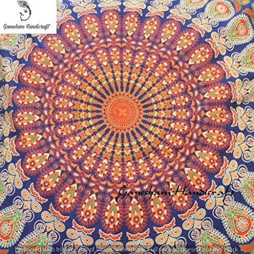 Cuscino quadrato da meditazione con motivo tappezzeria indiana pouf ottomano cuccia per cane cuscino da pavimento stile boho federa per cuscino realizzata a mano con mandala