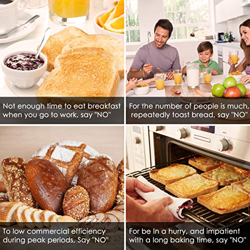 2 Slice Toaster, LOFTER Mirror Stainless Steel Toaster Extra Wide Slots Toasters with 6 Shade Settings, Compact LED Display with Removable Crumb Tray, Defrost/Reheat/Cancel, High Lift Lever, 800W by LOFTER (Image #6)