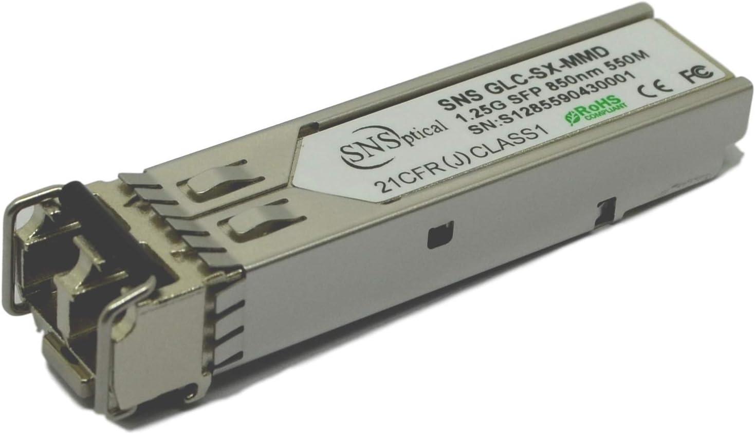 SNS SFP-GE-S Compatible with Cisco SFP-GE-S 1000BASE-SX SFP 850nm 550m EXT DDM Transceiver Module