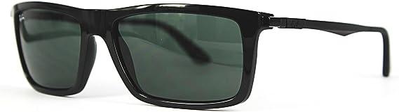 Ray-Ban Gafas de sol RB4214 Black/Green, 59 mm: Amazon.es: Ropa y accesorios