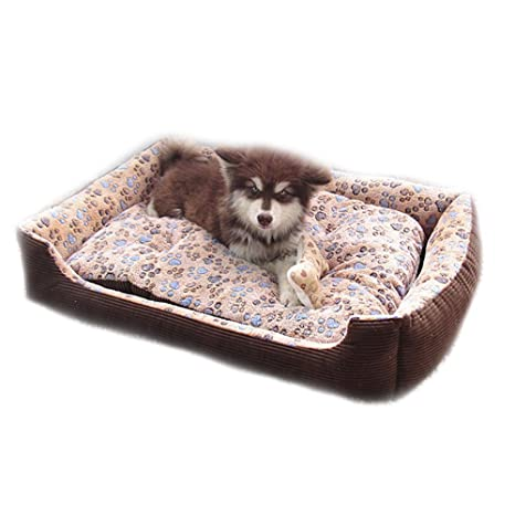 Small Big Large Dog Sofa Bed House Kennel Winter Warm Fleece Pet Dog Cat  Bed Nest