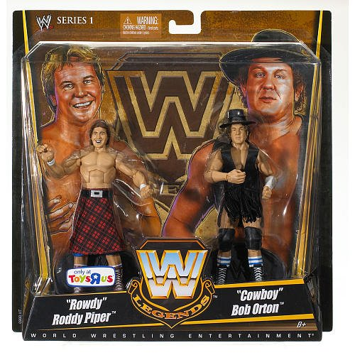 Mattel WWE Wrestling Exclusive True Legends Elite Action Figure 2Pack Rowdy Roddy Piper Cowboy Bob Orton by Mattel