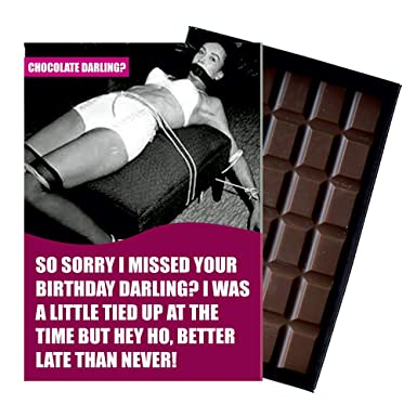 Belated Birthday Wishes 85 Gram Best Chocolate Darling Boxed Gift Bar Box Of Chocolates To Say