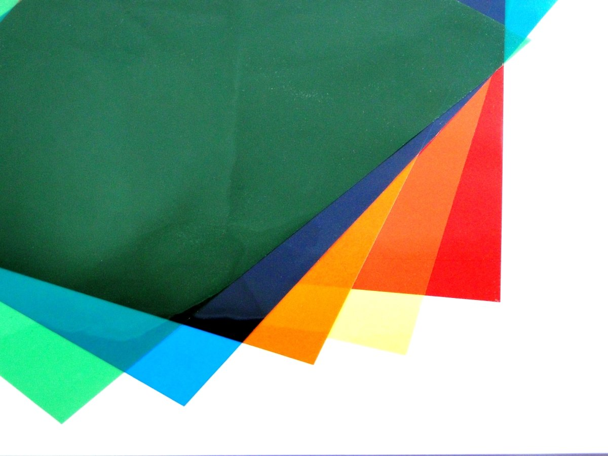 Assorted Colour A3 Acetate Sheets Transparent Gel Clear OHP Craft Plastic Acetate Film (6 Sheets) Habercrafts