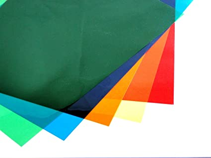 Amazon.com: Assorted Colour A4 Acetate Sheets Transparent Gel Clear ...