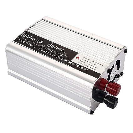 TOPmountain Car Power Inverter,3000W Peak Dc 12V To Ac220V//110V Ac Converter With Display And Usb Port For Car Inverter-12V To 110V; Black