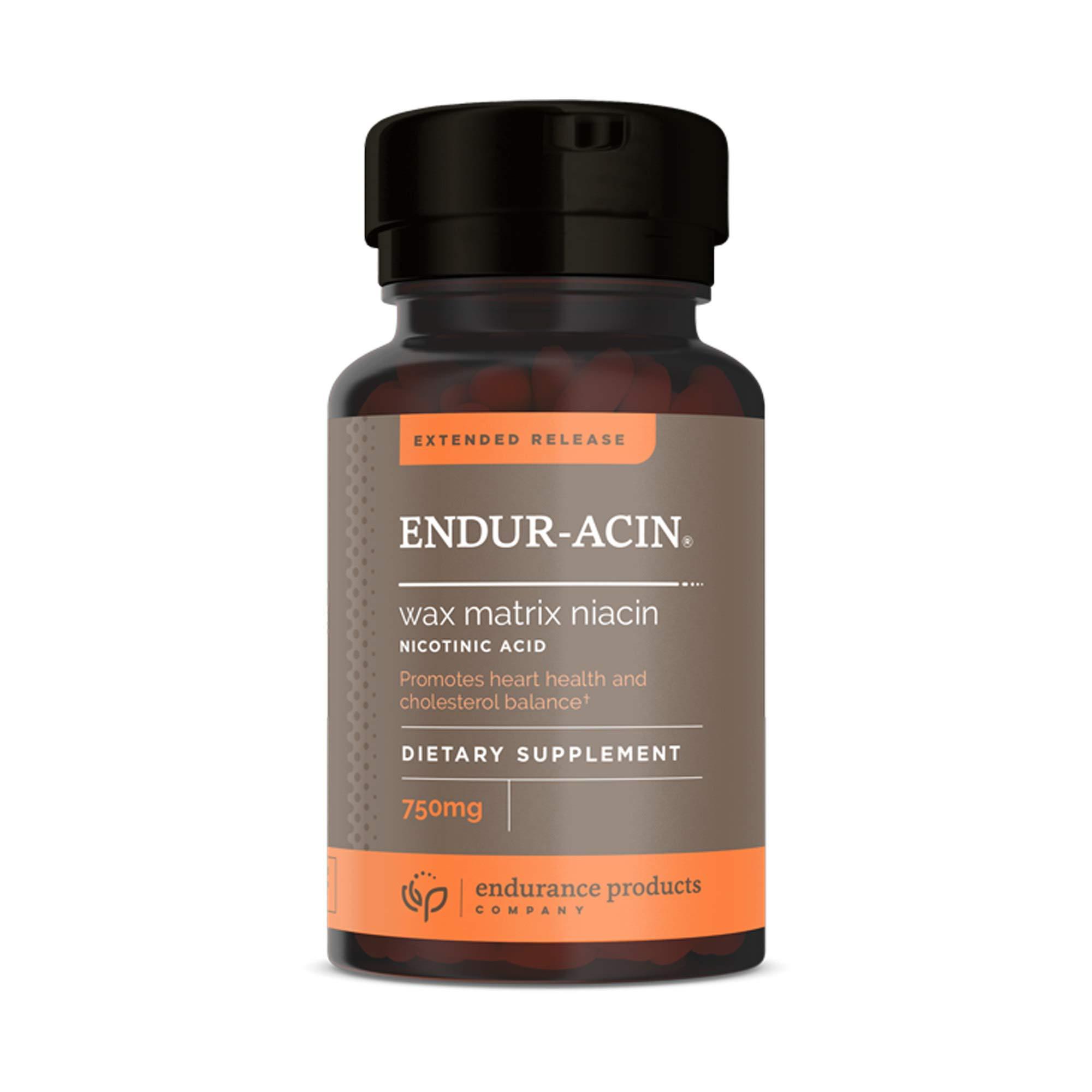 Extended Release ENDUR-ACIN® Wax Matrix Niacin (Nicotinic Acid) 750mg 60 Tablets - Pack of 2
