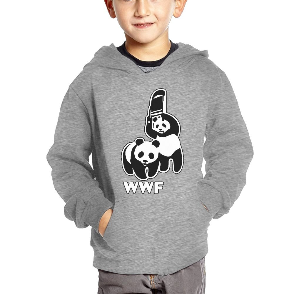WWF Funny Panda Bear Wrestling Cotton Pullover Hoodie Sweatshirts For Unisex Kids Hoody by Cztdo Ouybn