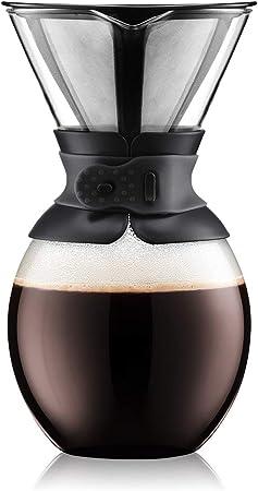 Bodum Cafetera Pour Over (Filtro Permanente, Apta para lavavajillas, 1 L), Color Rojo, Vidrio, Negro, 1.5 L/51 oz: Amazon.es: Hogar