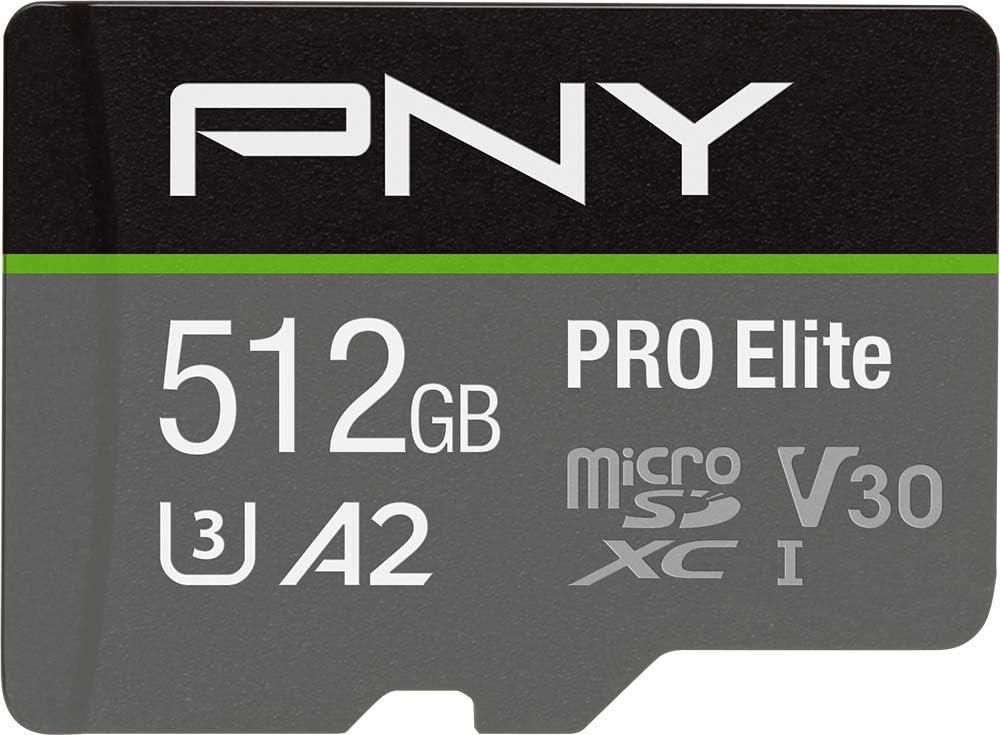 PNY 512GB PRO Elite Class 10 U3 V30 microSDXC Flash Memory Card