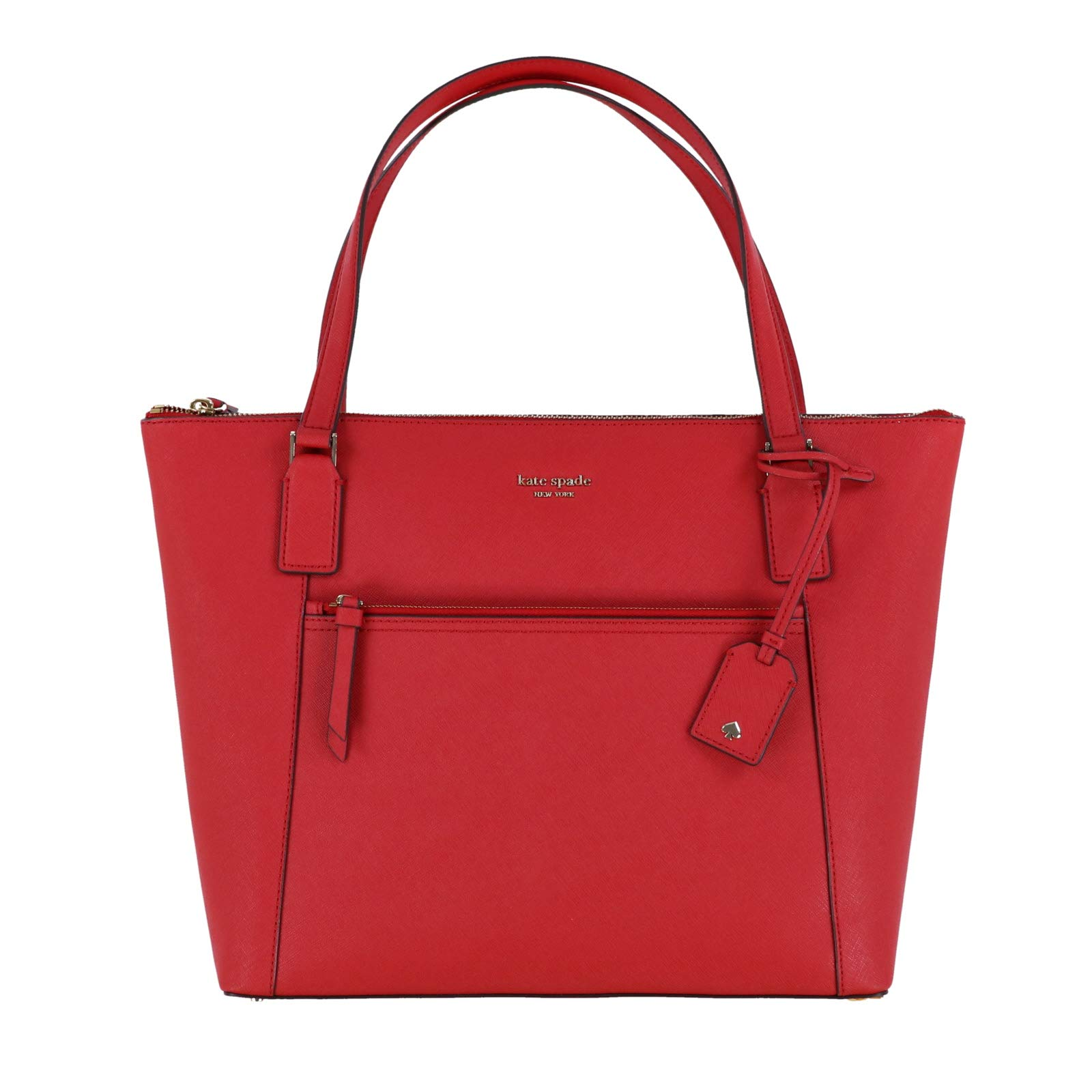 Kate Spade Cameron Saffiano Leather Pocket Tote Bag Purse Handbag for Work School Office Travel (Hot Chili) by Kate Spade New York