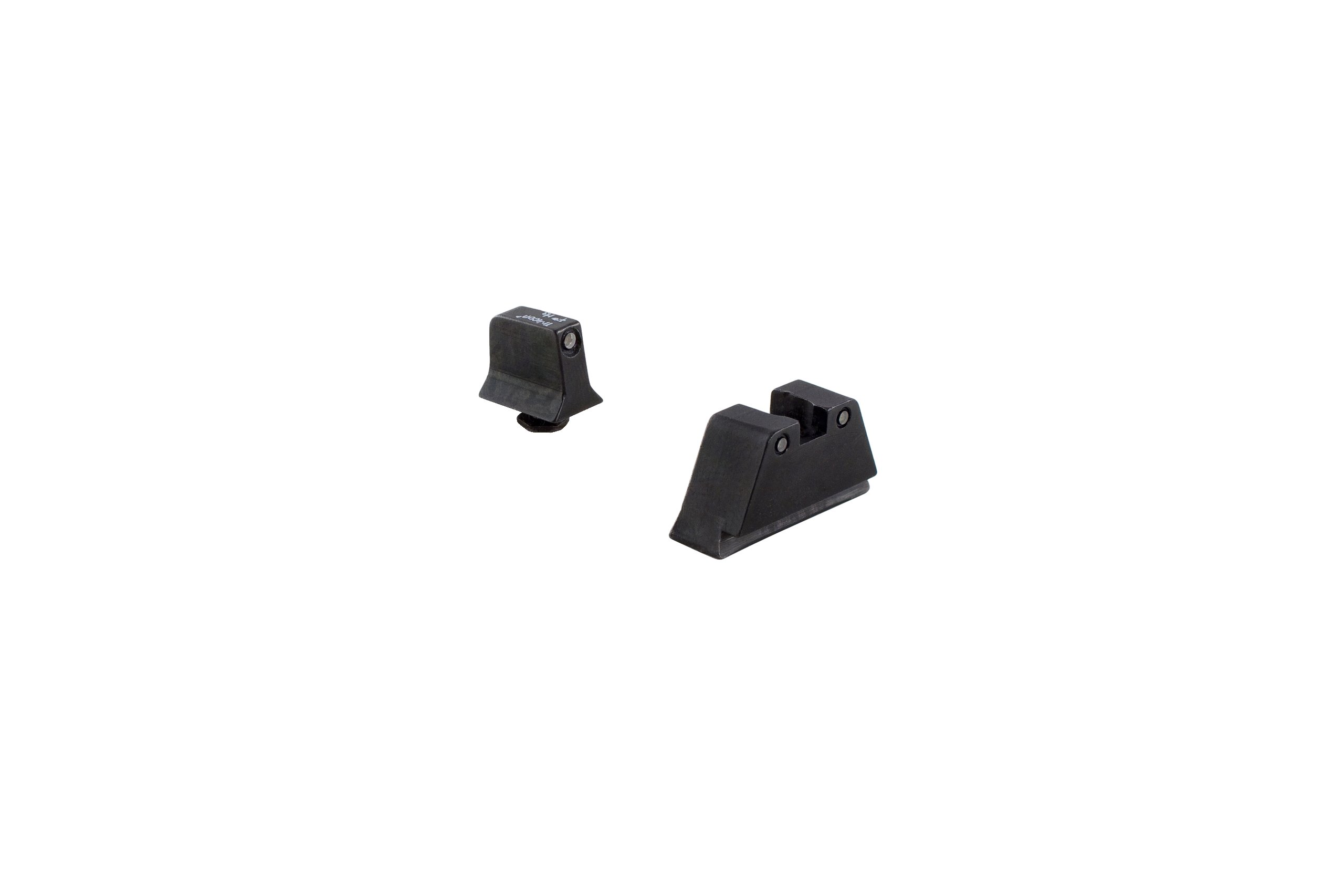 Trijicon Suppressor Night Sight Set, Black Front/Black Rear with Green Lamps for Glock 10mm/45ACP Models