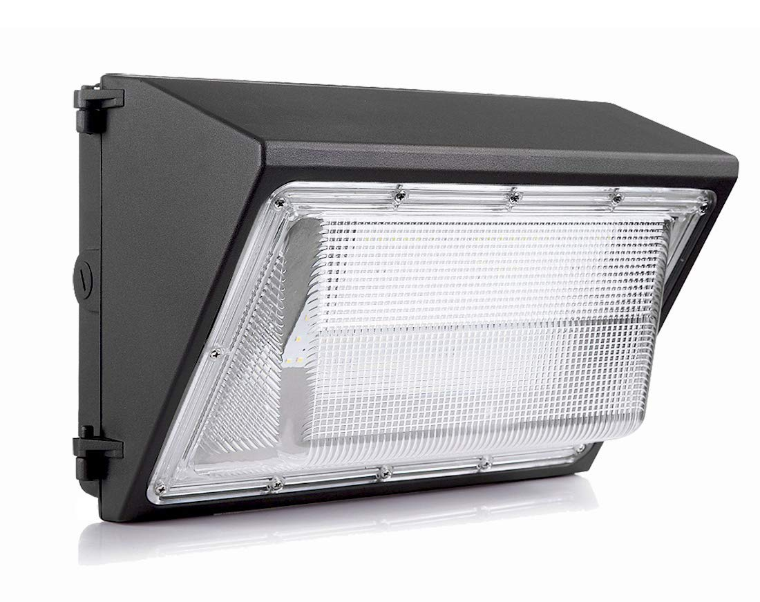 DE-Power 100W LED Wall Pack Light Fixture 120V-277V 12000LM IP65 Waterproof ETL/&DLC Listed Outdoor Security Lighting HPS//HID Replacement Industrial Commercial Area Light-5 Year Warranty